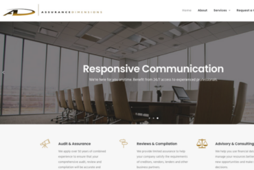 Assurance Dimensions Website Copywriting Project