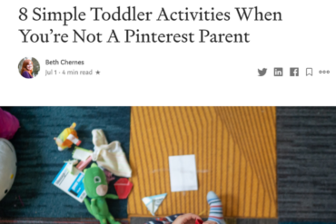 Medium Toddler Activities Article
