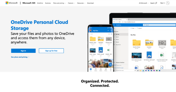 One Drive Website