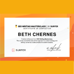 SEO Writing Masterclass Certification Beth Chernes